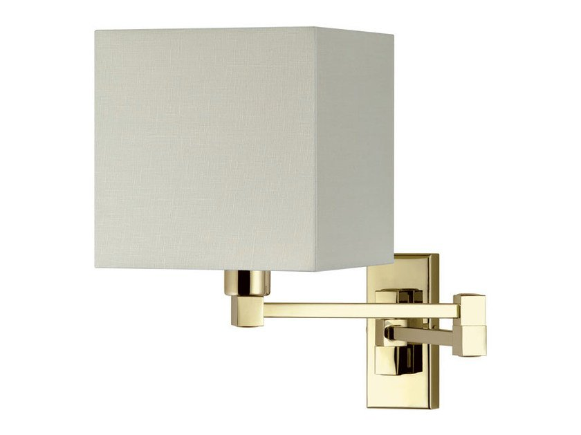 Contemporary style aluminium and PVC wall light with swing arm DOMIZIANA 15-30 by Quicklighting