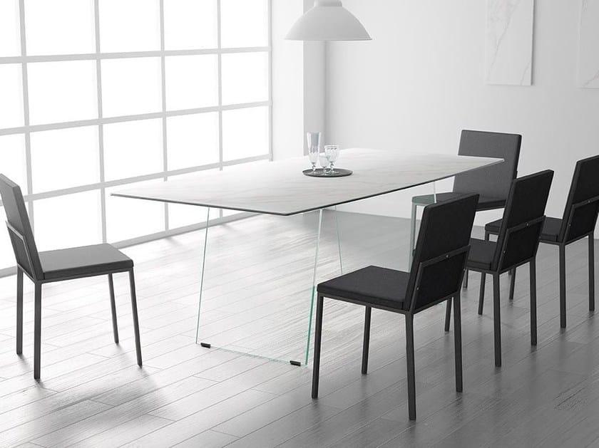 Rectangular wooden table DOMO by CANCIO