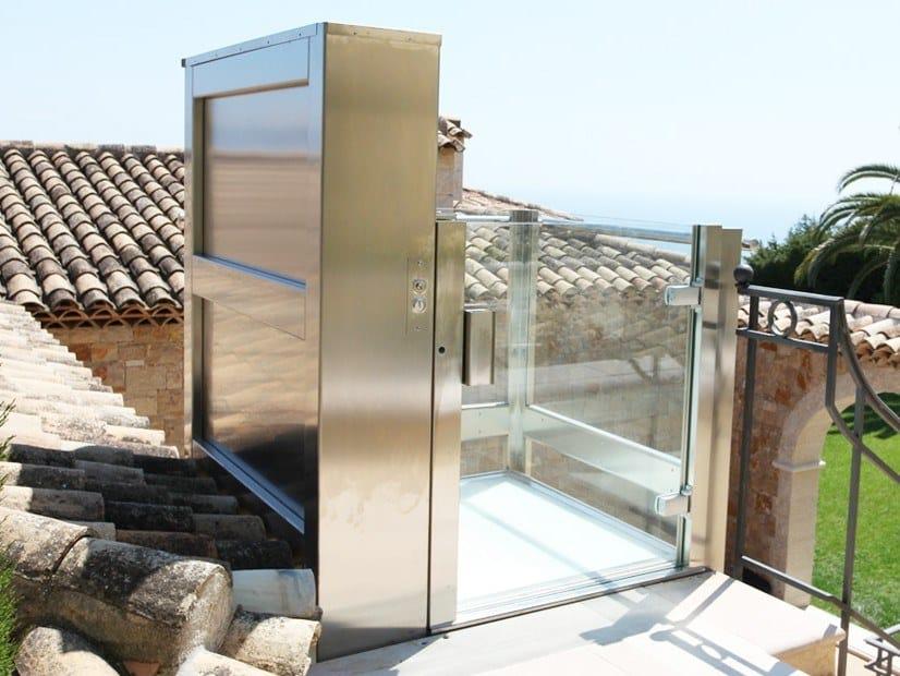 Indoor and outdoor platform lift DOMOFLEX OPEN by AREALIFT