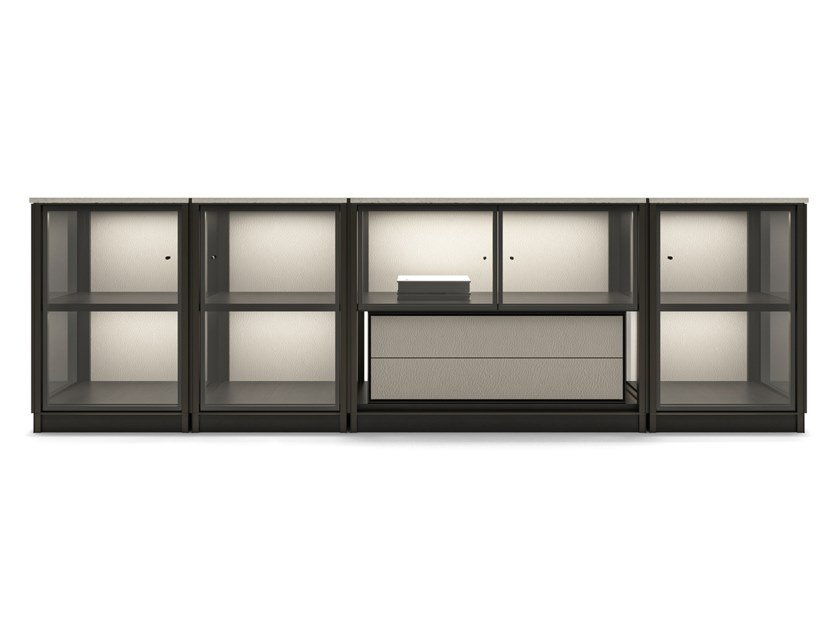 Modular sideboard with integrated lighting DOMUS | Sideboard by Giorgetti