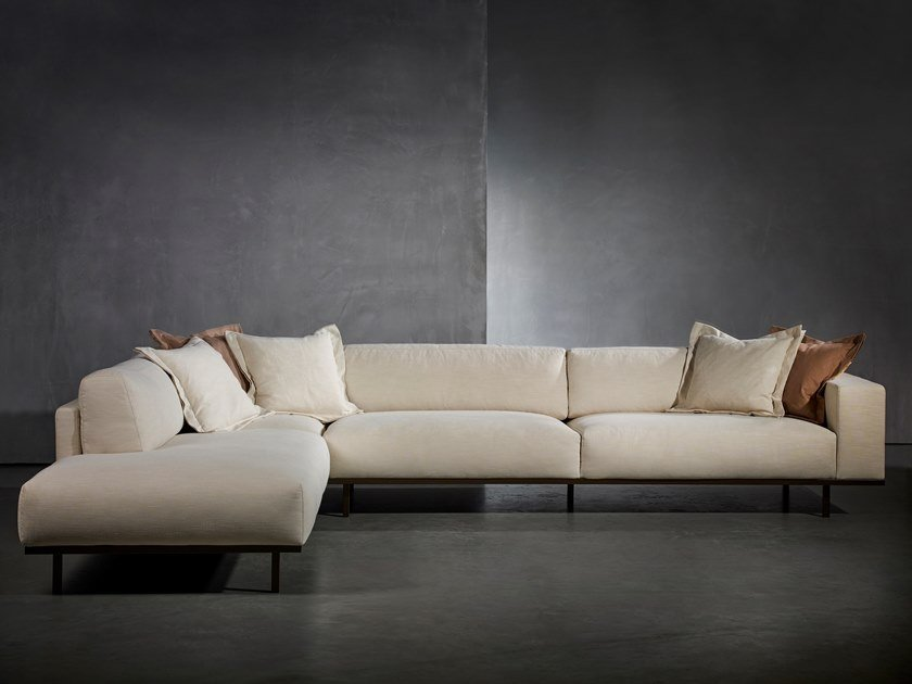 Sectional sofa with fire retardant padding DON LIVING | Sofa by Piet Boon