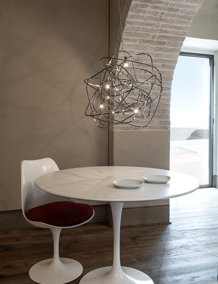 LED nickel pendant lamp DOODLE by TERZANI