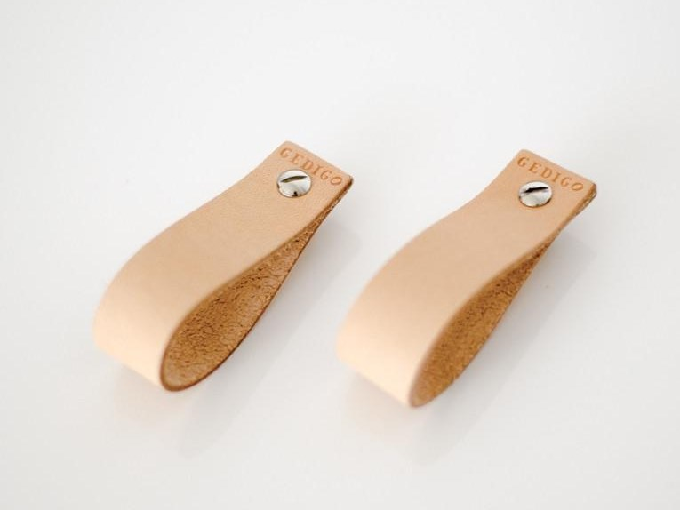 Tanned leather Furniture knob DOOR KNOBS by Gedigo