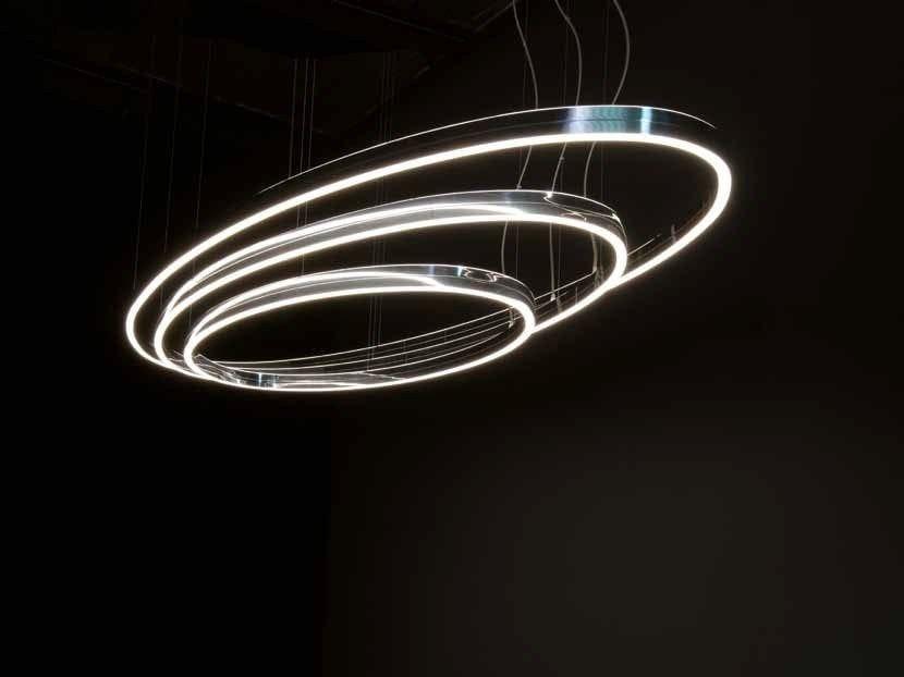 LED aluminium pendant lamp DOPPIO ELLIPSE by Sattler