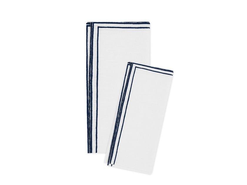 Linen napkin, set of 6 DOPPIO QUADRO | Napkin by La Gallina Matta