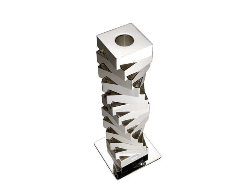 Silver candlestick DOPPIO VORTICE by ZANETTO