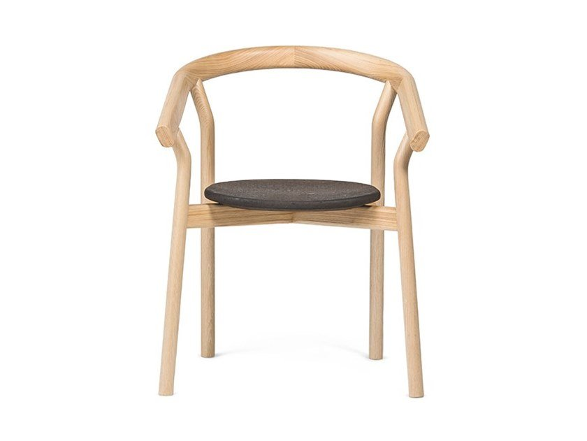 Ash chair with armrests DORA by DAM