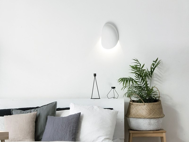 LED plaster wall light DORI by Sforzin