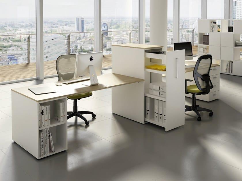Multiple office workstation with shelves DORIA | Office workstation with shelves by CUF Milano