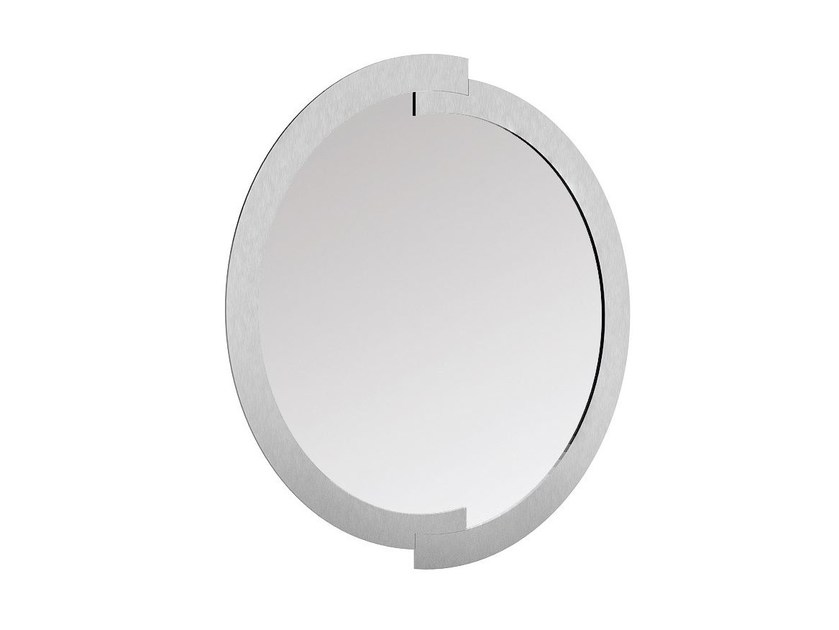 Contemporary style wall-mounted framed hall mirror DORIAN | Round mirror by Caroti