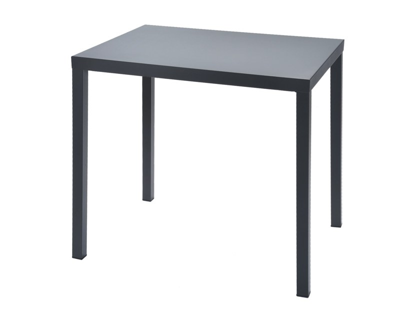 Contemporary style rectangular steel garden table DORIO | Rectangular table by RD Italia