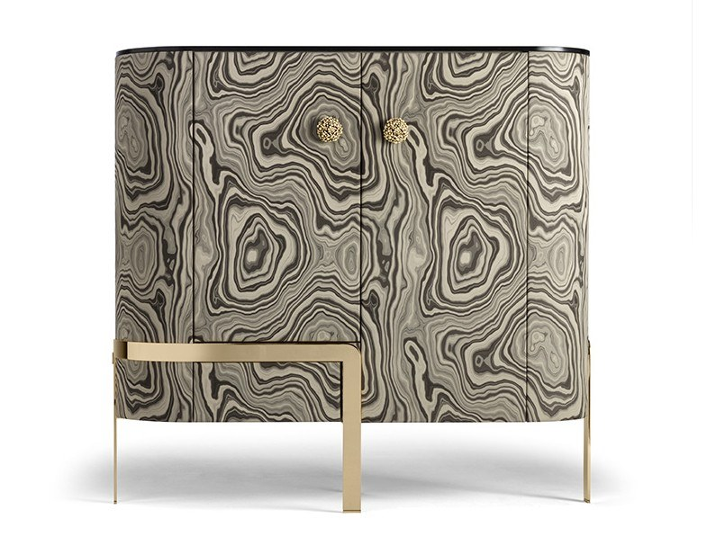 Bar cabinet covered with fabric DORIS By OPERA ...