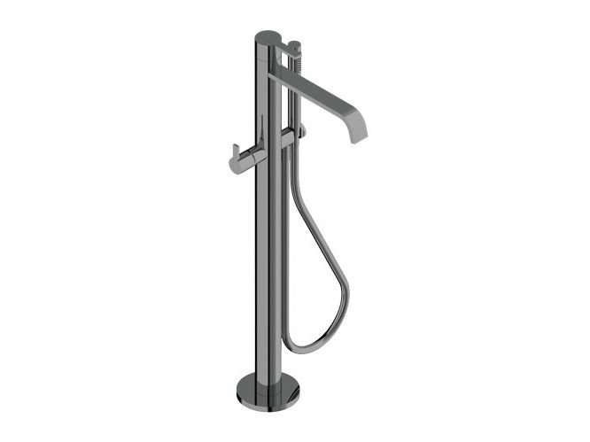 Floor standing bathtub mixer with hand shower DOROTEA | Floor standing bathtub mixer by Signorini