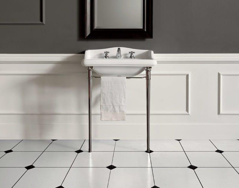 Console washbasin with towel rail DOROTHY | Console washbasin by BATH&BATH