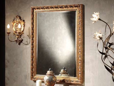 Rectangular wall-mounted framed mirror DOROTY | Mirror by Arvestyle