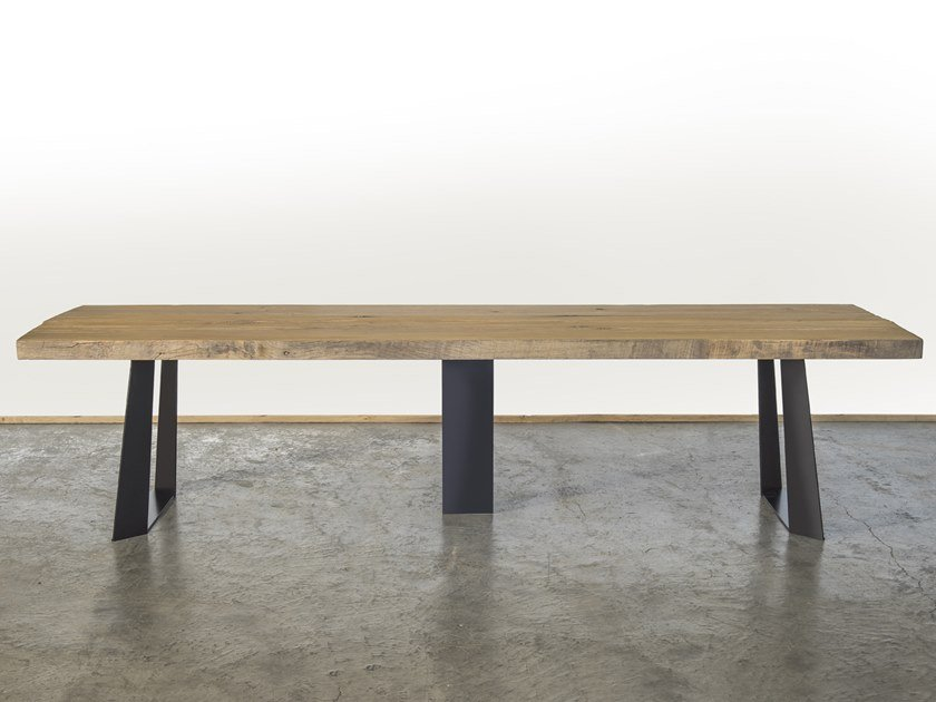 Rectangular reclaimed wood dining table DOSSON by A&B Rosa dei Legni