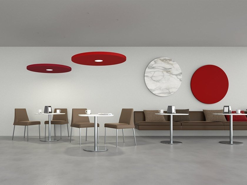 Hanging acoustic panel with Integrated Lighting DOT | Hanging acoustic panel with Integrated Lighting by Caruso Acoustic