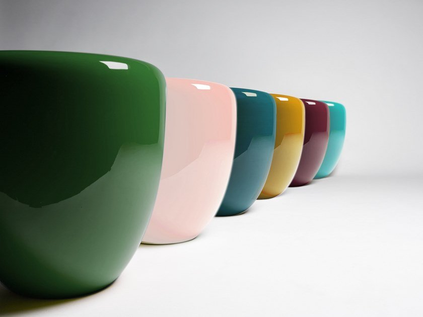 Lacquered wooden side table DOT | Lacquered coffee table by REDA AMALOU DESIGN