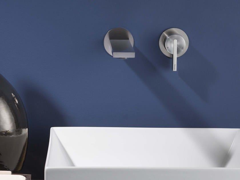 2 hole wall-mounted single handle stainless steel washbasin mixer DOT316 | 2 hole washbasin mixer by RITMONIO