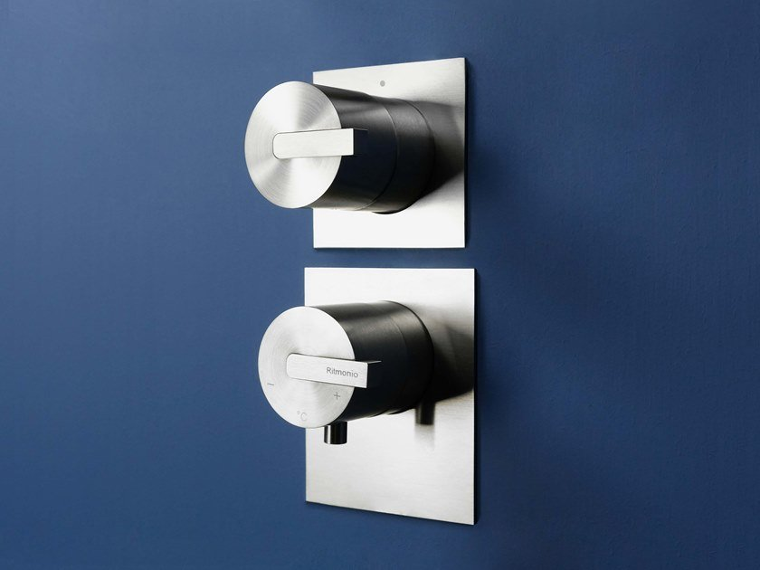 Wall-mounted stainless steel remote control tap DOT316   Remote control tap by RITMONIO