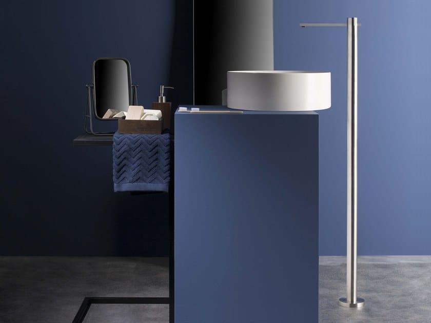 Floor standing 1 hole stainless steel washbasin mixer DOT316 | Floor standing washbasin mixer by RITMONIO