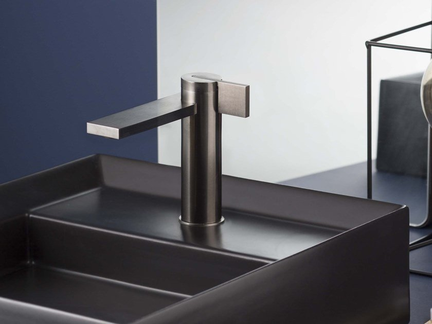 Countertop single handle stainless steel washbasin mixer without waste DOT316 | Washbasin mixer by RITMONIO