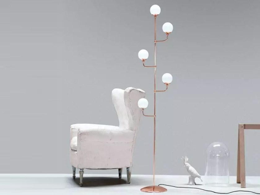 Copper floor lamp DOTS | Floor lamp by M.M. Lampadari