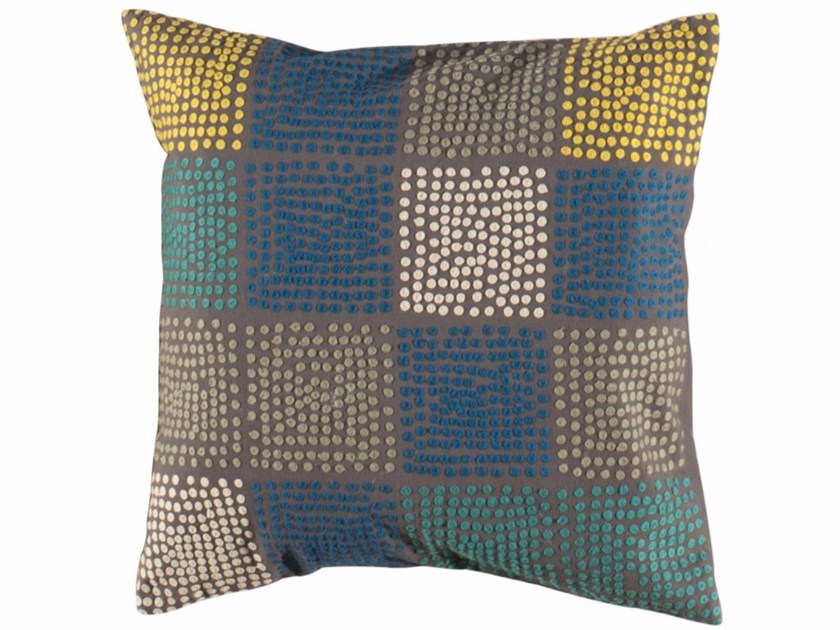 Dotted square wool cushion DOTS | Square cushion by Toulemonde Bochart