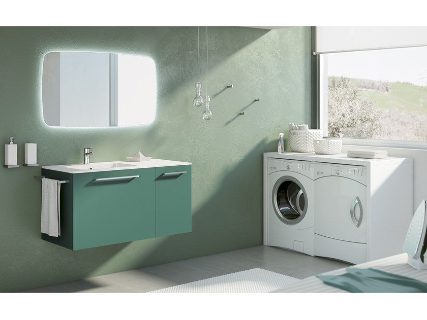 Laundry room cabinet with sink DOUBLE 15 by BMT