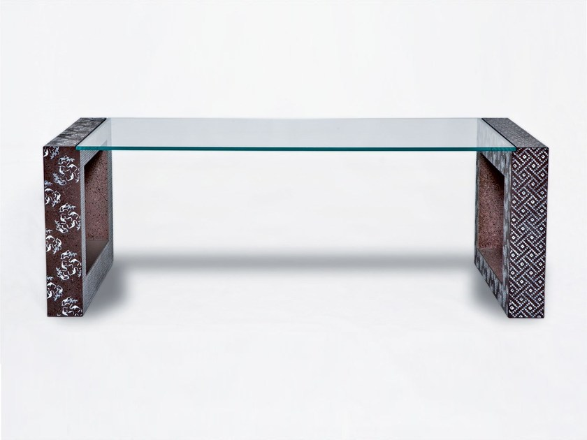Lava stone table DOUBLE FACE by Made a Mano