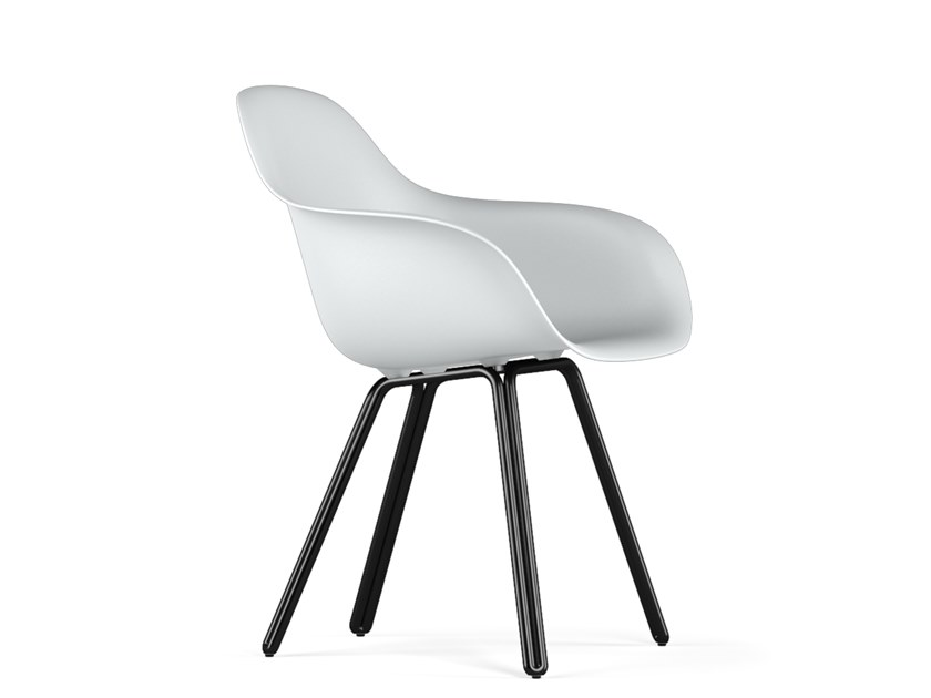 Polypropylene chair with armrests DOUBLE V9 | Chair with armrests by KUBIKOFF