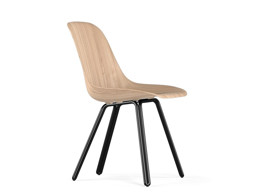 Wooden chair DOUBLE W9 by KUBIKOFF