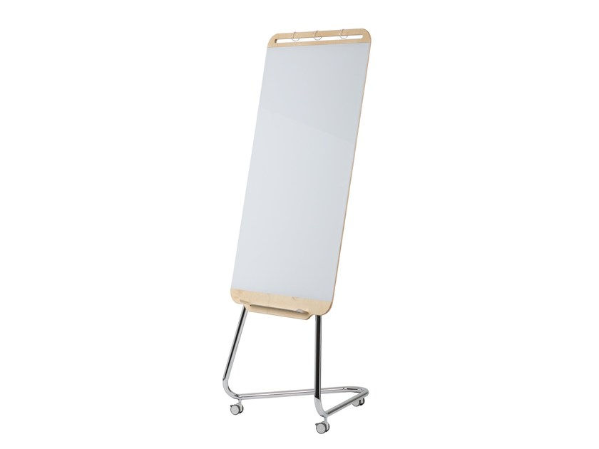 Mobile easel with casters DOURO | Office whiteboard with casters by ARCHYI. by Bi-silque