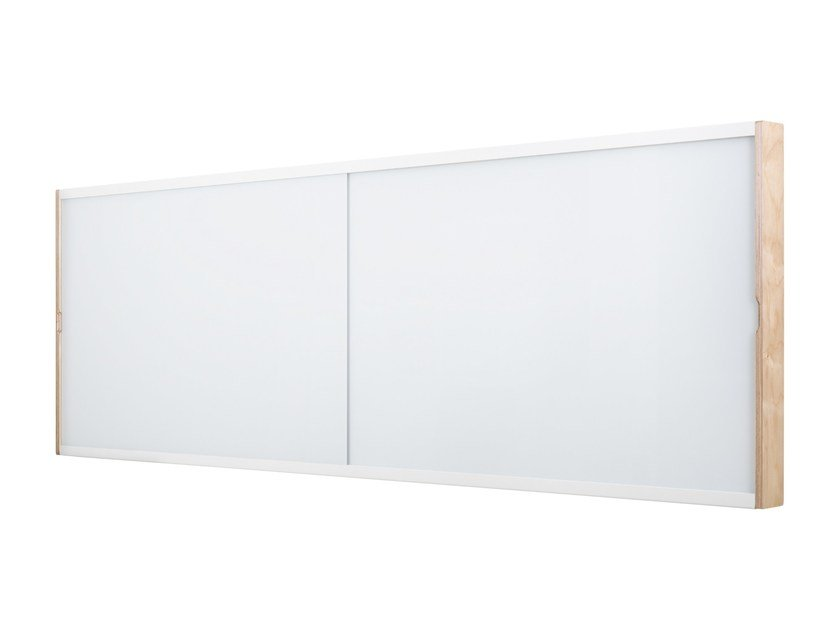 Wall Mounted LCD Cabinet With Sliding Glass Whiteboard DOURO | Office  Whiteboard By ARCHYI.