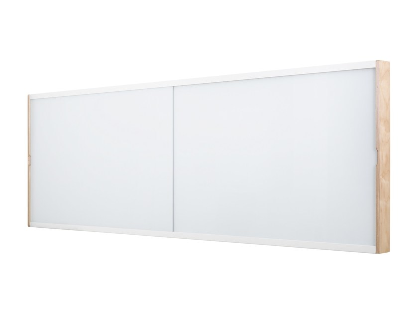 Wall-mounted LCD cabinet with sliding glass whiteboard DOURO | Office whiteboard by ARCHYI. by Bi-silque