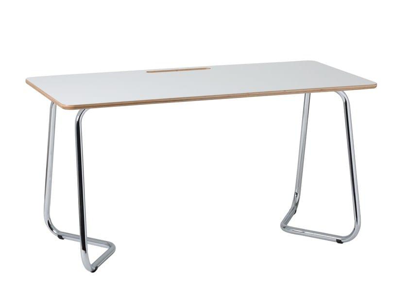 Rectangular laminate workstation desk DOURO | Office desk by ARCHYI. by Bi-silque