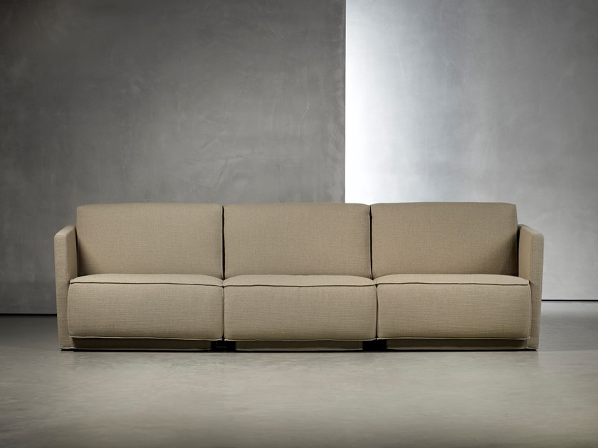 Sectional upholstered 3 seater sofa DOUTZEN LIVING | 3 seater sofa by Piet Boon