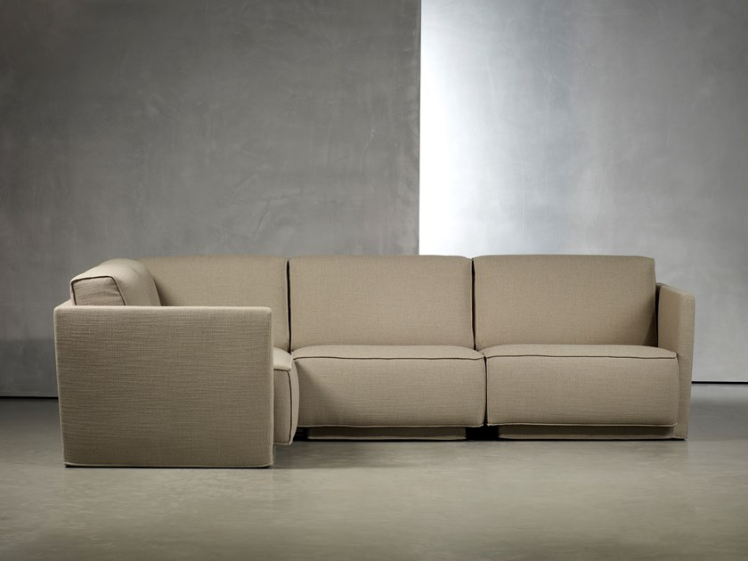 Sectional 3 seater sofa with fire retardant padding DOUTZEN LIVING | Corner sofa by Piet Boon