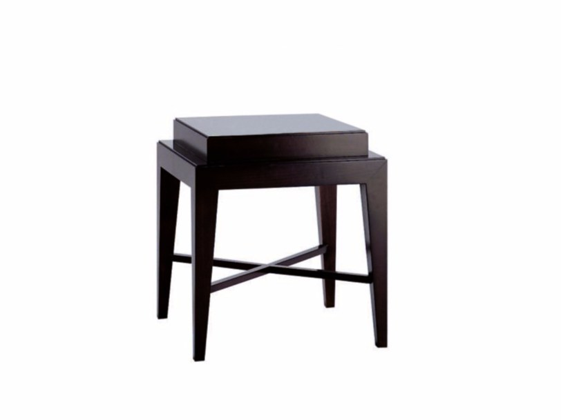 Lacquered square wooden coffee table DOWNTOWN | Square coffee table by SELVA