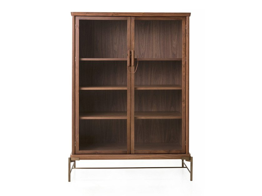 Wood veneer display cabinet DOWRY CABINET III by STELLAR WORKS