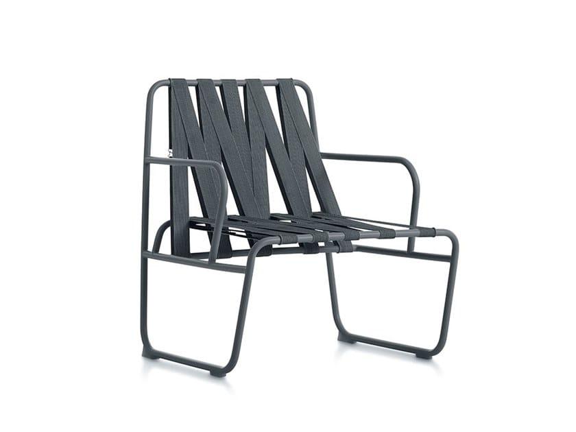 Garden easy chair with armrests DOZEQUINZE | Easy chair with armrests by Diabla