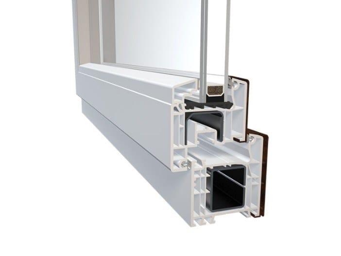 Aluminium and PVC double glazed window DQG 70 ALU by Diquigiovanni
