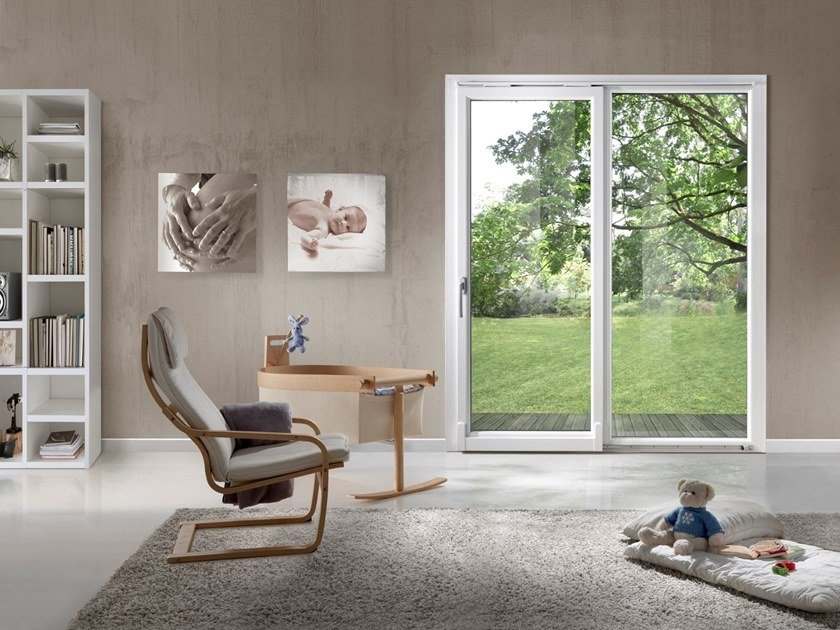 Sliding pocket PVC door TECNO | Sliding window by Diquigiovanni