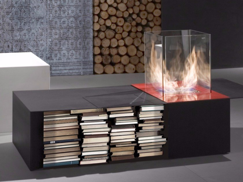 Table-top bioethanol fireplace DRAGO by Antonio Lupi Design