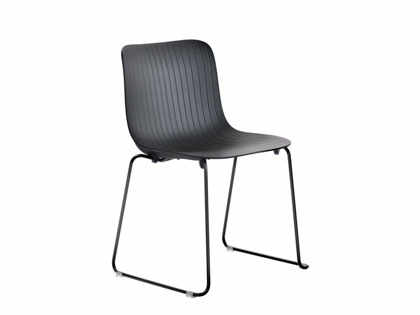 Sled base stackable chair DRAGONFLY S0033 by Segis