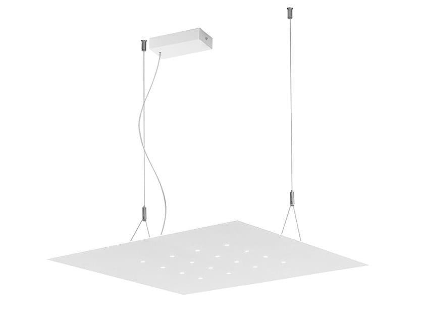 Lampada a sospensione a LED in acciaio DRAM by Rossini Illuminazione