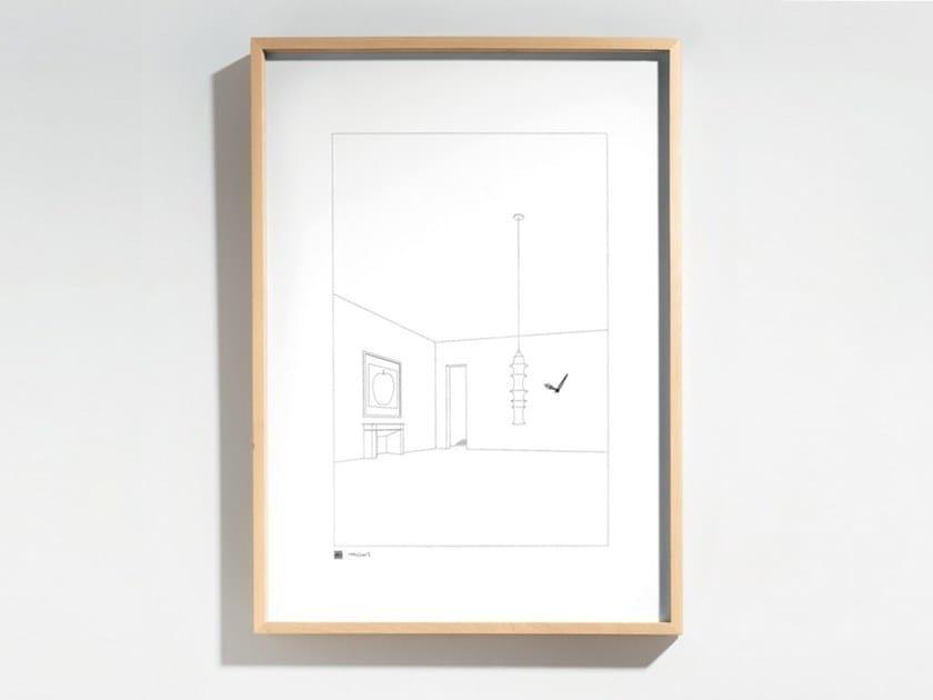 Orologio in legno e vetro da parete DRAWING NO. 12 by Danese Milano