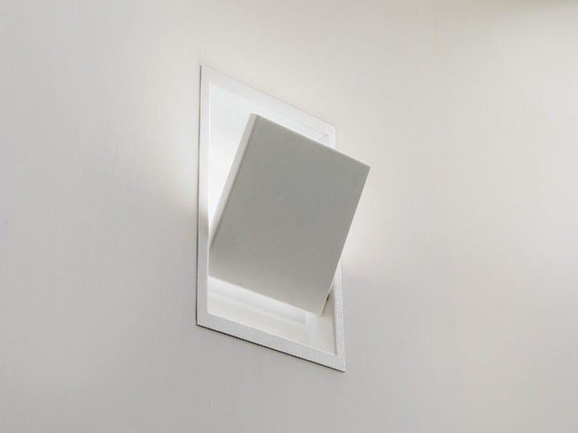 Lampada da parete a led a luce indiretta a incasso drawlight by olev
