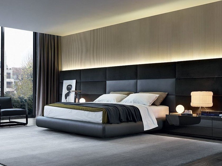 DREAM | Letto in ecopelle By poliform design Marcel Wanders
