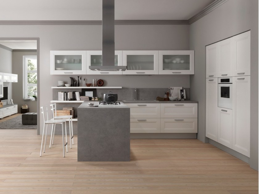 DREAM | Kitchen with peninsula By Febal Casa design Dario Poles
